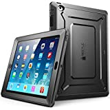 iPad 2 Case SUPCASE [Heavy Duty] Apple iPad Case [Unicorn Beetle PRO Series] Full-body Rugged Hybrid Protective Case Cover with Built-in Screen Protector for the New iPad 2 (2nd Generation) Dual Layer Design + Impact Resistant Bumper (Black/Black) (Black/Black)