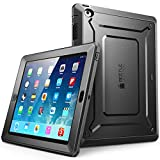 Apple iPad 4 / 3 / 2 Hülle , SUPCASE Heavy Duty [Unicorn Beetle PRO Series] Protective Case / Schutzhülle mit eingebautem Displayschutz + Impact Resistant Bumper (Schwarz)