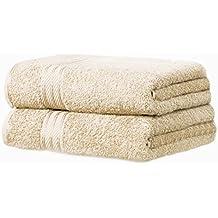 restmor Knightsbridge - Juego de 2 Toallas de baño (100% algodón Egipcio, tamaño