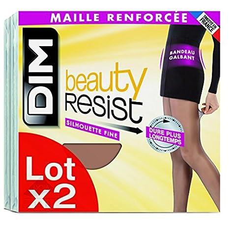 Dim Beauty Resist, Collants, Lot de 2, Femme, Noir, FR: 3 (Taille Fabricant: 3)