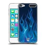Head Case Designs Blau Feuer Hot Rod Flamme Soft Gel Hülle für Apple iPod Touch 6G 6th Gen