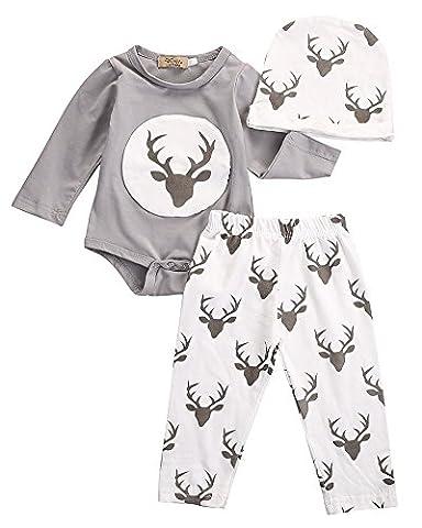 Cerf Costume Outfit - Cerf nouveau-né bébé garçons filles Costume Vêtements