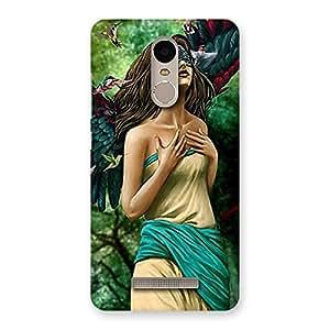 Enticing True Angel Multicolor Back Case Cover for Xiaomi Redmi Note 3