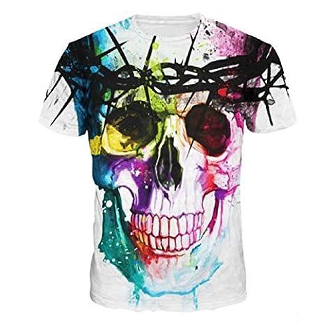 Fami Impression 3D Men Fashion arder timbre à manches courtes T-shirts (S)