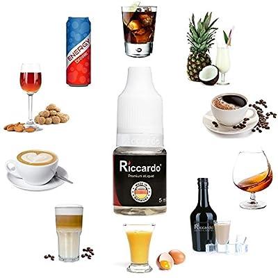 Riccardo Getraenke Probierset - 10x 5 ml - Premium e Liquid für e Zigarette - Made in Germany - 0,0 mg Nikotin von Riccardo