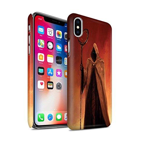 Offiziell Chris Cold Hülle / Matte Snap-On Case für Apple iPhone X/10 / Gevatter Tod Muster / Dämonisches Tier Kollektion Gevatter Tod
