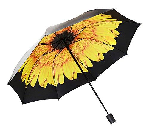Black Temptation Parapluie Solaire Parasol Pliant Parapluie Protection solairey