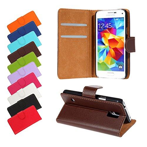 BRALEXX Bookstyle Tasche für Samsung Galaxy S5 Mini G800F braun