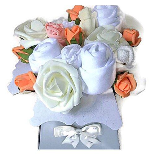 ea2874c41e7a5 Unisexe bébé fille bébé garçon Crème blanc Bouquet de vêtements pour bébé  Douche Nouvelle Maman