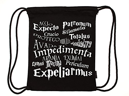 Zaubern Zaubersprüche leichter Festival Rucksack schwarz für Weltverbesserer aus Bio-Baumwolle