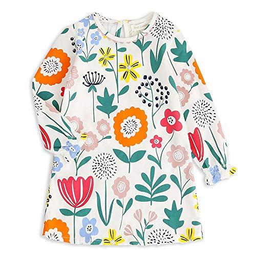 UFODB Elegant MäDchen Kleid Blumen Langarm Blume Floral Party Loose Kids Partykleider ()