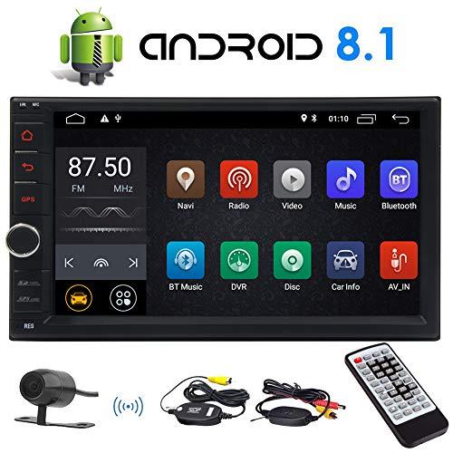 Android 8.1 Oreo Car Stereo 7-Zoll-kapazitiver Touch Screen Double 2 Lärm-Auto GPS-Navigations-Radio Unterstützung Bluetooth OBD2 DVR 4G WiFi AM FM RDS-Radio mit Wireless Fernbedienung
