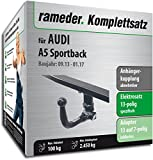 Rameder Komplettsatz, Anhängerkupplung abnehmbar + 13pol Elektrik für AUDI A5 Sportback (112746-08159-28)