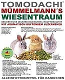 Tomodachi Kaninchenfutter, Hasenfutter, Raufutter Kaninchen, Strukturfutter, Erbsenflocken, Möhrenflocken, Luzerneheu, Kräuter, Löwenzahn, leckeres Gemüse, Körner, Mümmelmanns Wiesentraum 15kg Sack