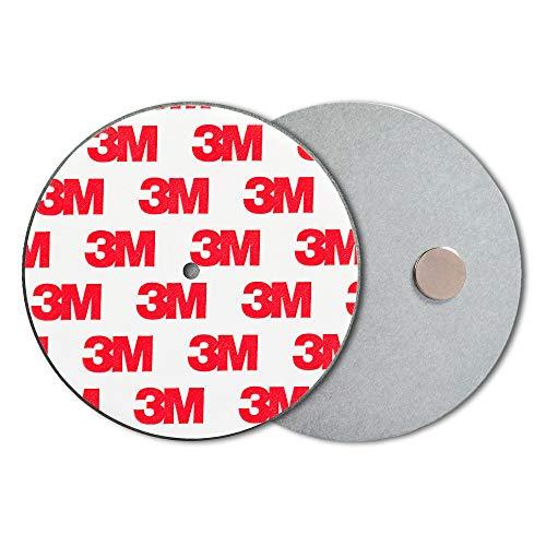 ECENCE Rauchmelder Magnethalter 10 Stück Selbstklebende Magnethalterung für Rauchmelder Ø 70mm schnelle & sichere Montage ohne Bohren und Schrauben für alle Feuermelder und Rauchwarnmelder 71010106