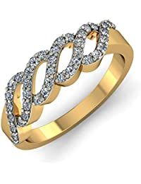 KuberBox 14K Yellow Gold Diamond Ring