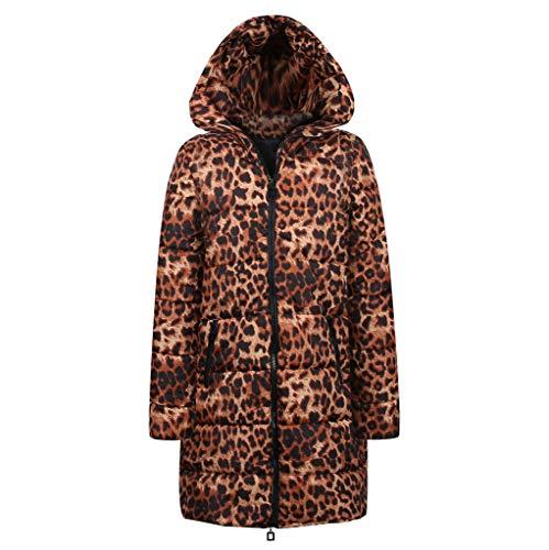 JMETRIC Damenmode aus Baumwolle mit Leopardenmuster und Kapuze, -