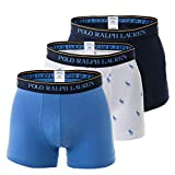 Polo Ralph Lauren Herren Boxer Shorts 3er Pack - Classic Trunks, Stretch Cotton, Mehrfarbig (L (Large))