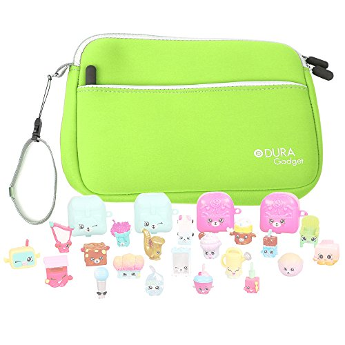 Price comparison product image Green Neoprene Case Cover With Front Zip Pocket for the Shopkins S5 Mega Pack - by DURAGADGET