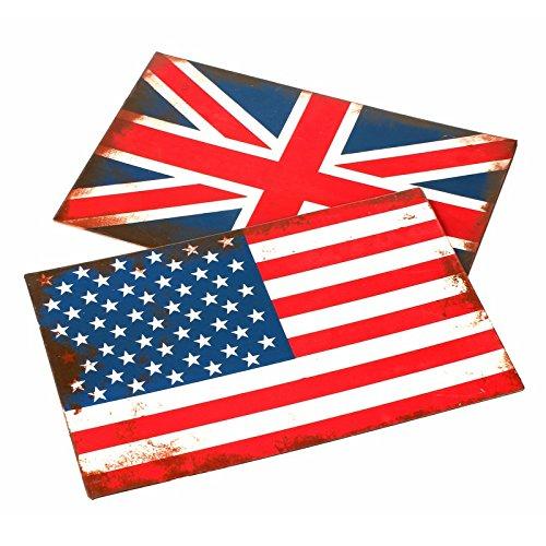 Placa Pared-36x 24cm-bandera London Vintage-Union Jack