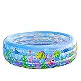 Baby Pool Baby Fuß Pumpe Aufblasbare Badewanne Junge Kinder Badewanne Verdickung Isolierung Große Faltbare Größe: 185 * 50 Mt (Blau)