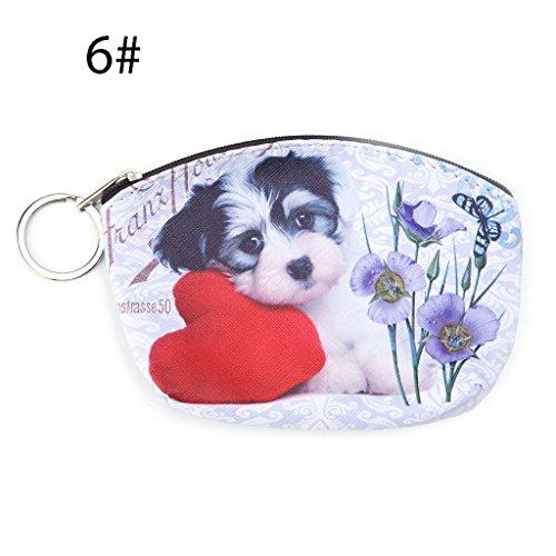 Dairyshop portafogli donna Portachiavi della borsa della carta del supporto dell'anello chiave della cassa del sacchetto moneta donne sveglie (5) 6
