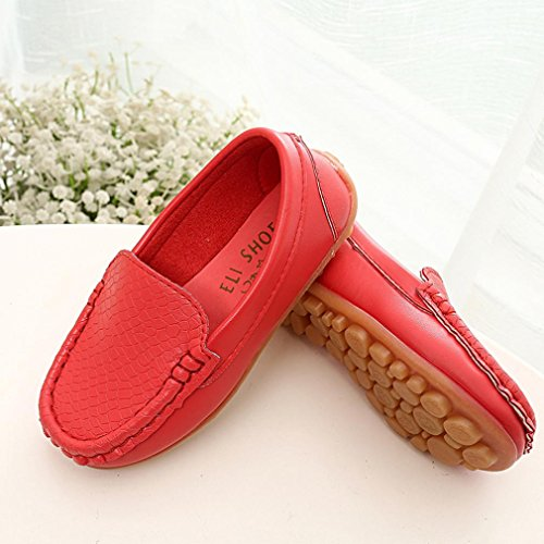 Rawdah Chaussures de Baskets pour Enfants Chaussures Garçons Chaussures pour Chaussures de Sport Pour 2~6.5 Ans Bébé Rouge
