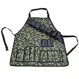 CX ECO Multifunktionale Schürzen Hochleistungs-Werkzeugschürze Wasserdicht mit mehreren Taschen für Männer Frauen Anzug für Küche, Garten, Keramik
