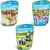 PLAYMOBIL City Life Zoo Set de 3-partes 6651 6652 6643 banco de...