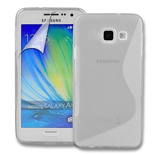 Connect Zone Samsung Galaxy A3 (2016) S Line Gel Silicone Étui + Protection Ecran Protection Et Lingette De Polissage - Transparent S Line Gel, -