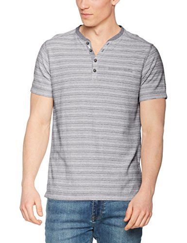 LERROS Herren T-Shirt Serafino Grau (Pale Grey 223)