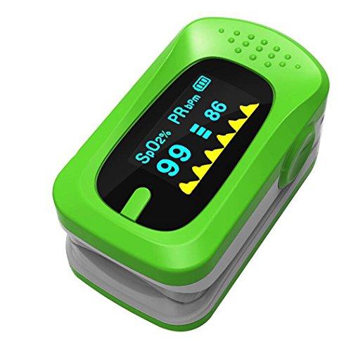 Aozzy Finger Pulsoximeter mit LED Display Für Erwachsene, Kinder