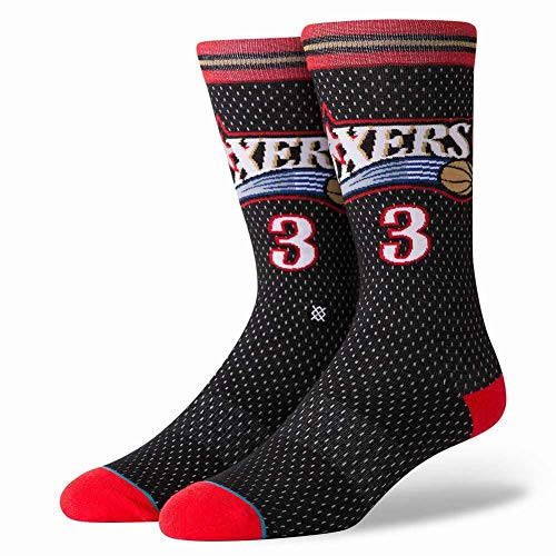 Stance Sixers 01 HWC NBA Socks - Black Large