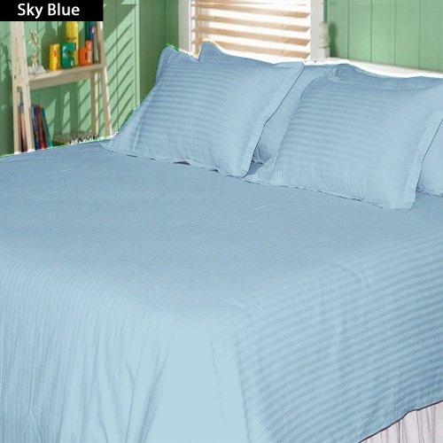 Authentische Ägyptische Baumwolle Bettlaken-Set passend für Matratzen bis 45,7cm Tief 1000TC, baumwolle, himmelblau, King Size (1000 Tc Blatt)