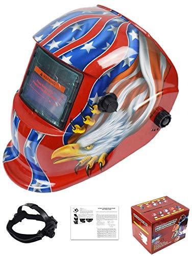 Icegrey Eléctrico Casco de Soldadura Automático Solar Energía Máscara de Fotosensible Máscara de Soldador Casco de Soldadura Rojo