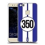Head Case Designs Weiss Und Blau Speed Soft Gel Hülle für Huawei P10 Lite
