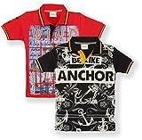 TONYBOY Boys Printed Polo T-Shirt (Pack ...