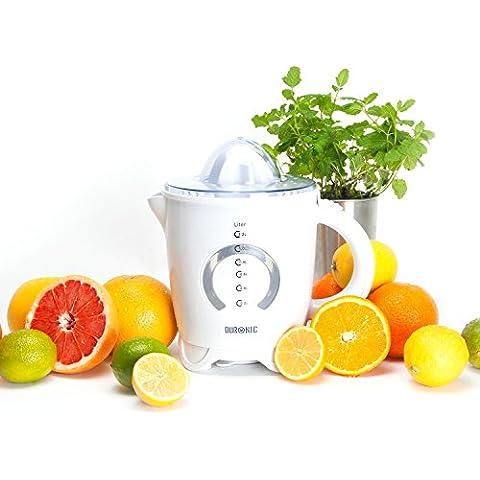 Duronic JE4 BLANCO - Exprimidor de frutas cítricas con 2 conos incluido