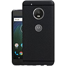 Jkobi® 360* Protection Dotted Soft Rubberised Back Case Cover for Moto G5 Plus (Black)