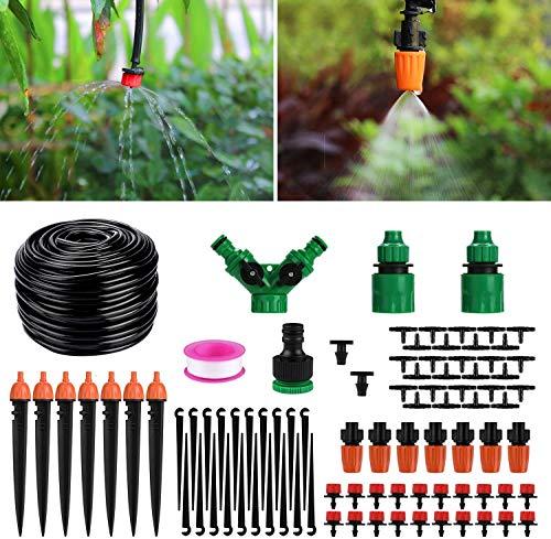 Aiglam Sistema di irrigazione da Giardino 40M, Micro Drip Irrigation Kit Irrigazione Automatica Sprinkler Automatico Irrigazione a Goccia Kit Irrigazione Giardino per Paesaggio, aiuola, Piante