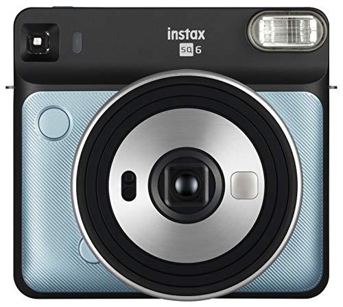 Fujifilm instax square sq6 fotocamera istantanea per foto formato quadrato 62 x 62 mm, aqua blue