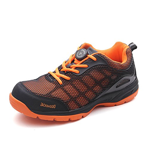 Männer Athletic Air Monarch Intelligente Lace-Up Sneaker JACKBAGGIO 8824S (10 UK / 44 EU, Orange) (Damen Tan Golf Schuhe)