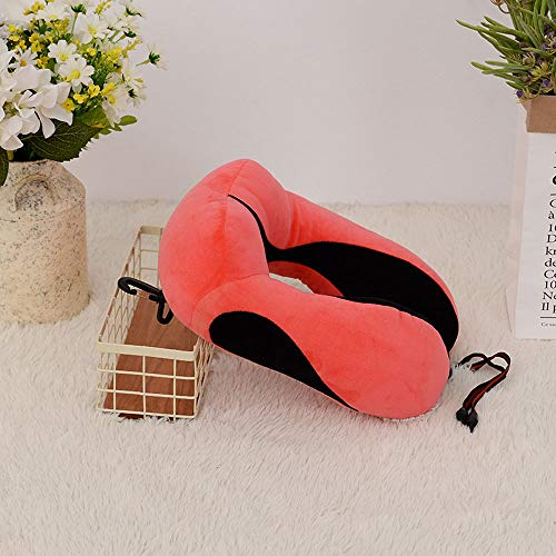 LYX Sommer U-förmiges Kissen PP Baumwolle Zervixkissen Reisekomfort Reisekissen Leicht zu tragen Geeignet for Arbeitsreisen Privatleben usw. (Color : Rot) -
