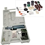 Cordless Rechargeable Mini Rotary Dremel Style Drill with 165 Accessories and Case