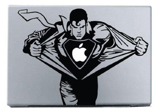 Preisvergleich Produktbild Macbook Decal 13inch 15inch Apple Laptop Sticker Superman-High-Definition-Black von AsAir