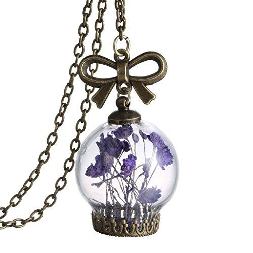collar-cadena-colgante-frasco-vidrio-transparente-bronce-antiguo-flor-seca-joyeria-purpura