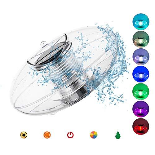SUTIANZHANG Luce Solare Galleggiante con Luce Solare a LED in plastica ABS Impermeabile Che Cambia Colore, Luce Notturna Decorazione della Festa in Piscina in Giardino (2 Confezioni)