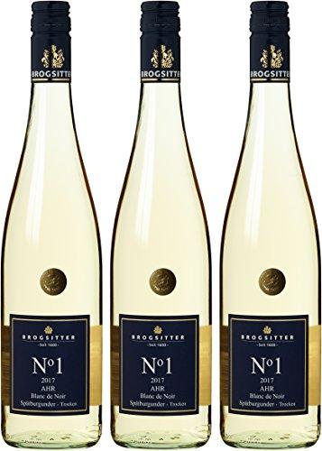 Weinkellerei Brogsitter Spätburgunder Blanc de Noir N grad 1 2016/2017 Trocken (3 x 0.75 l)