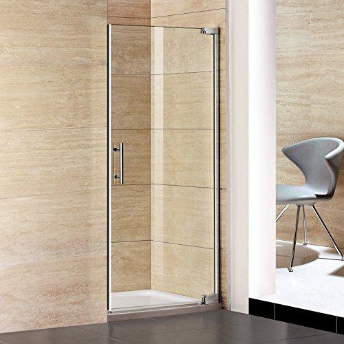 100x185cm Duschtür Nischentür Schwingtür Duschabtrennung Dusche Pendeltür (P1-10E+1B)