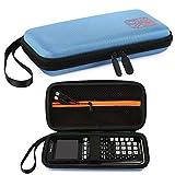 Faylapa Almacenamiento de estuche para calculadora gráfica Texas Instruments TI-83 Plus TI-84 Plus Estuche de EVA Bolsa de viaje Estuche de protección (Blue)